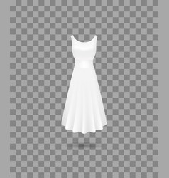 realistic detailed 3d women dress mock up vector image