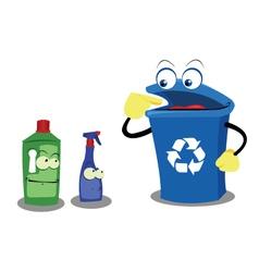 Recycling plastic vector