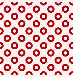 Red circles seamless pattern vector