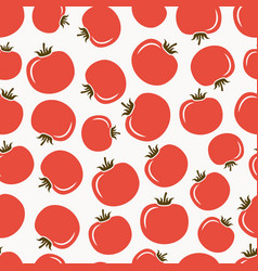 Red tomatoes seamless pattern vector