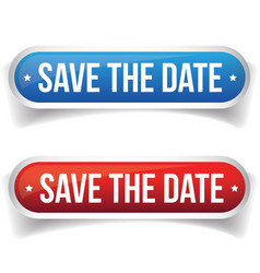Save the Date button vector