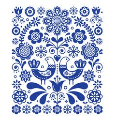 Scandinavian cute folk art decoration vector