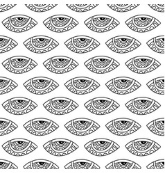 seamless pattern with ornamental eyes vector image