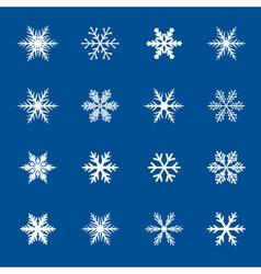 Set of white snowflakes icon vector image