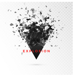 Shatter dark triangle abstract cloud pieces vector