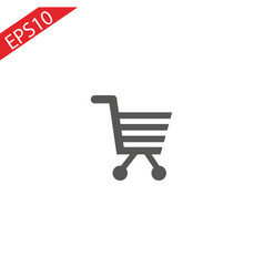 shopping cart simple icon for web vector image
