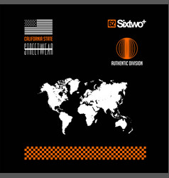 Sixtwo authentic division california state map vector