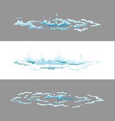 sprite water splash animation shock waves on vector image