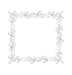 square floral graphic frame vector image