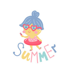Summer girls vector
