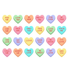 sweet heart candy vector image