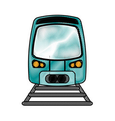 Train flat scribble vector