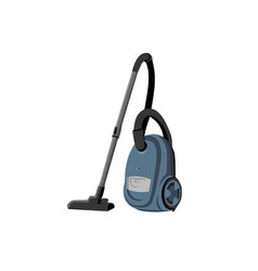 vacuum cleaner flat design icon vector image