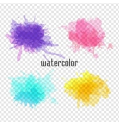 Watercolor blot for your design vector