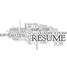 What not to include in your resume text word vector