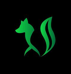 wolf logo image vector image
