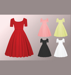 woman glamour dress vector image