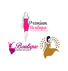 women shape beauty logo design vector image