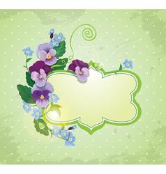 Birthday Valentines Day or Wedding card vector image