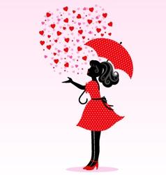 rain of love vector image vector image