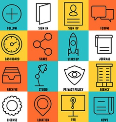 Set of linear internet service icons - part 3 vector image vector image