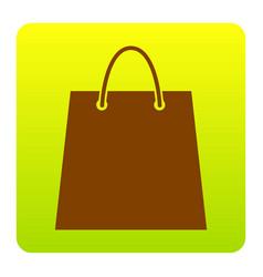 shopping bag brown icon at vector image vector image