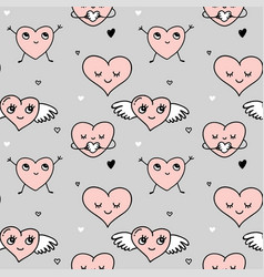 valentines day background and seamless pattern vector image vector image