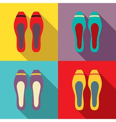 Women Flat Shoes vector image