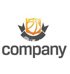 basketball league logo vector image