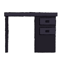 black desk office drawers icon vector image vector image