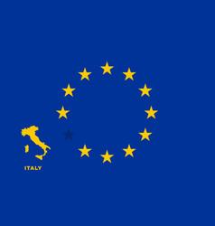 eu flag with italy country european union vector image