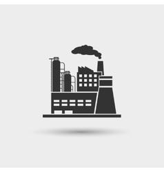 Industrial plant icon vector image vector image