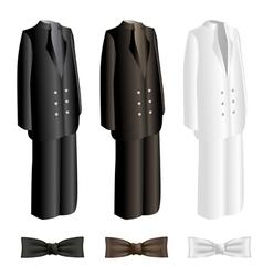 Men suit and necktie set vector image vector image