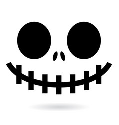 scary halloween ghost or pumpkin face design vector image