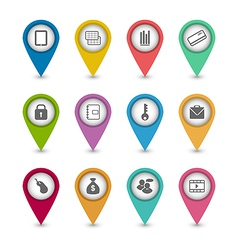 Set business pictogram icons for your design vector image vector image