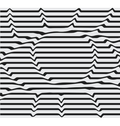 Design monochrome motion twisted twirl vector image vector image