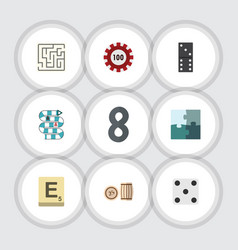 flat icon games set of bones game multiplayer vector image