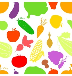 Vegetables seamless pattern background with great vector image vector image