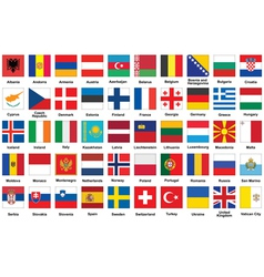 icons with flags of Europe vector image vector image