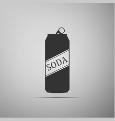 soda can icon isolated on grey background vector image