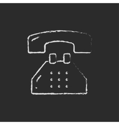 Telephone drawn in chalk vector image