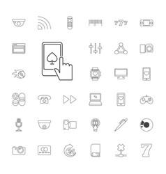 33 digital icons vector