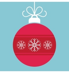 Abstract christmas ball in flat style vector image