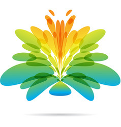 abstract flower icon vector image