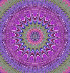 Abstract oriental fractal mandala background vector