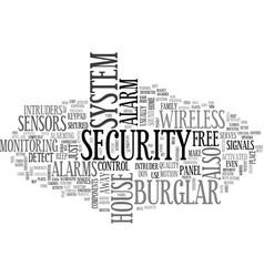 Alarm burglar free wireless text word cloud vector