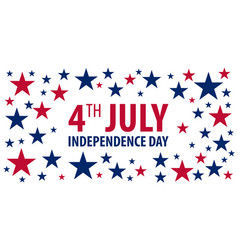 American independence day 4th july template vector