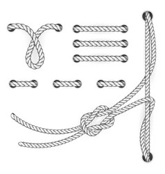 Attested document rope stitchs and loops - file vector