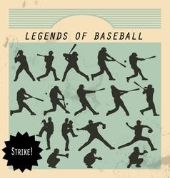 Ballplayer - silhouettes of baseball players vector