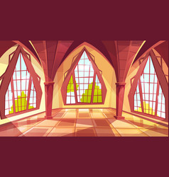 Ballroom or palace windows vector